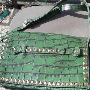 Sergio Feretti vintage alligator handbag